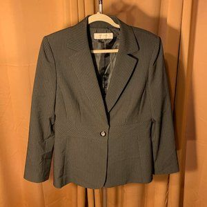 Black Pinstripe Tahari Blazer Size 10